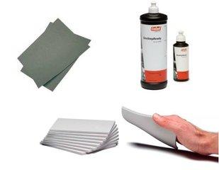 Sanding / polish materials