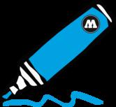 shock blue middle 4mm