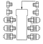 Manifold 6x to 4x6 hose