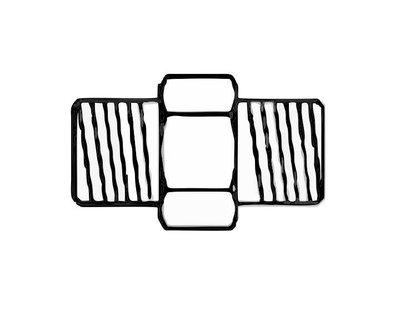 double nipple 2x G1/8 male thread
