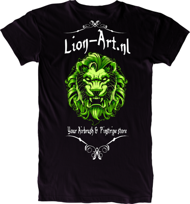 Lion-Art T-Shirt Black